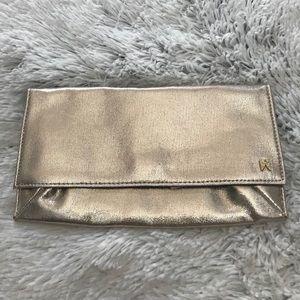 NEW wTag-VICTORIA'S SECRET Light Gold Wallet/Pouch